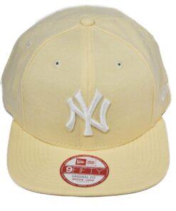 New York New Era ljusgul snapback keps