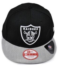 New Era Raiders svart mjuk grå snapback keps
