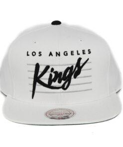 Los Angeles Kings Vit snapack keps Mitchell and ness svart