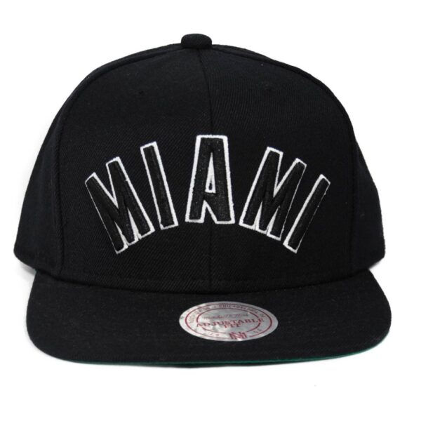 Miami Heat Mitchell and ness Svart Snapback NBA