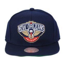Snapback Mitchell and ness New Orleans Pelicans NBA keps snapback mörkblå