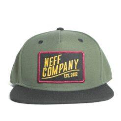 Neff station 2 cap grön svart keps snapback