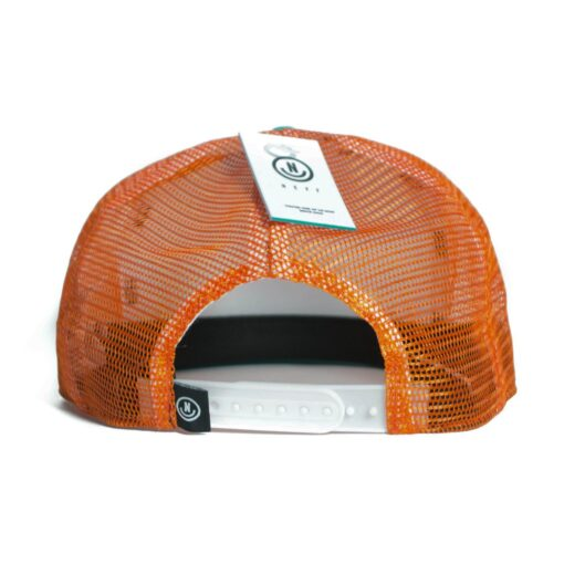 Neff Suburbia trucker keps vit orange turkås