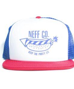 Neff Suburbia trucker röd vit blå keps