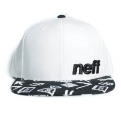 Neff Daily Pattern snapback svart vit keps