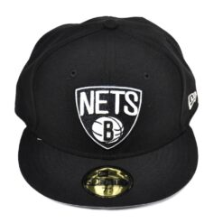 New Era Keps Brooklyn Nets NBA svart fitted
