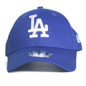 New Era Los Angeles Dodgers blå barnkeps böjd skärm