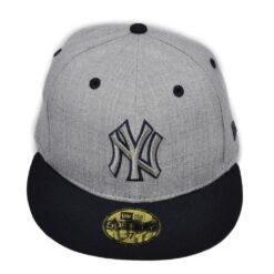 New era grå NY keps fitted mörkblå skärm