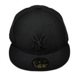New era new york yankees svart gummi fitted