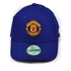 Manchester United new era keps strapback barn blå
