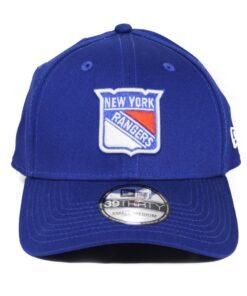 New York Rangers logga i vitt Blå keps new era flexfit