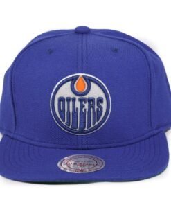 Blå snapback NHL Oilers Mitchell and ness