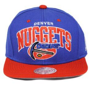 Nuggets Denver NBA blå röd snapback