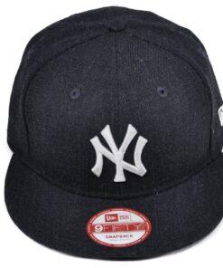 New Era Grå/Svart melerad keps snapback New York Yankees