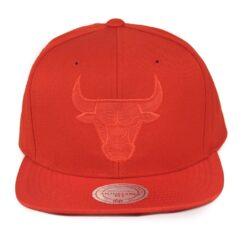 Chicago Bull Röd/röd snapback NBA keps mitchell and ness