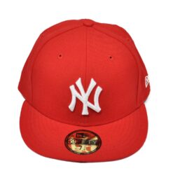 Röd new era keps fitted new york yankees
