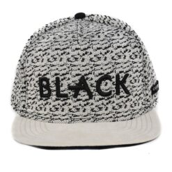 Black melerad vit/svart snapback keps Cayler and sons