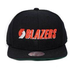 Blazers NBA keps Mitchell and ness svart snapback
