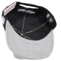 Snapback Brooklyn Nets NBA keps svart grå Mitchell and ness