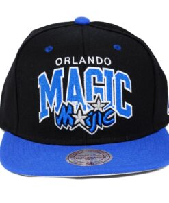 Snapback svart blå Orlando Magic Mitchell and ness