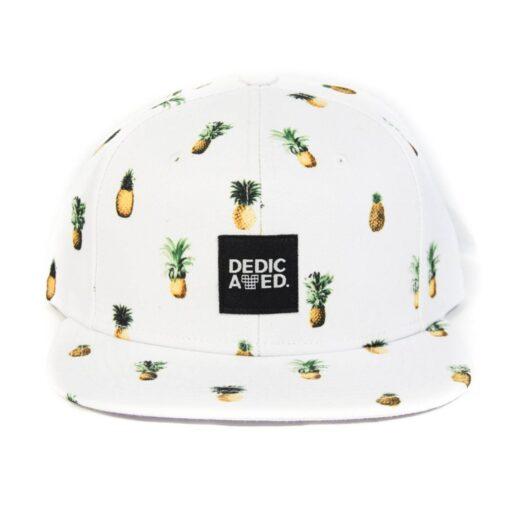 Dedicated snapback ananaser vit logga fram