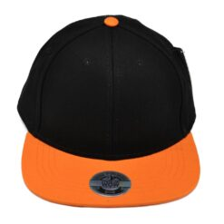 Snapback barn keps svart orange state of wow