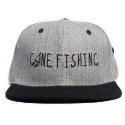 SQRTN Snapback keps Gone Fishing grå