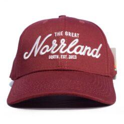 SQRTN Great Norrland Hooked Cap Vinröd