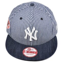 New Era Strapback vit/blå randig jeansfärg new york yankees