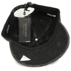 Svart keps gubbe tvättad strapback