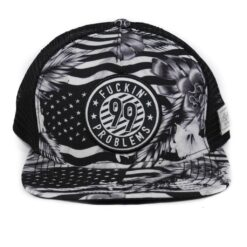 Trucker snapback USA svartvit nät 99 problems