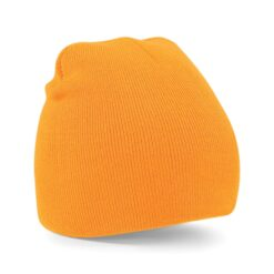 Beechfield - Beanie Knitted Hat - Orange mössa