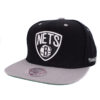 Snapback Brooklyn Nets NBA keps svart grå Mitchell and ness