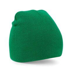 Beechfield - Beanie Knitted Hat - Grön mössa