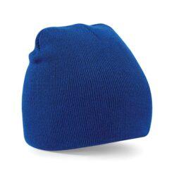 Beechfield - Beanie Knitted Hat - Blå mössa