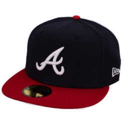 New Era – Atlanta Braves – Svart 59Fifty Fitted keps