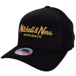 Mitchell & Ness Pinscript svart guld keps