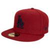 New era LA Dodgers röd fitted keps