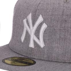 New era New york yankees gråmelerad fitted keps