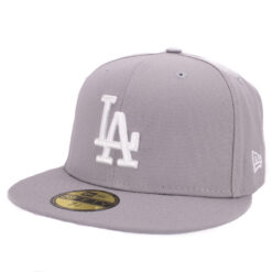 New era LA Dodgers grå fitted keps