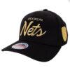 Mitchell & Ness Brooklyn Nets svart guld keps